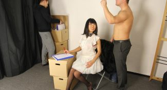 Wild pickup fucking in the office Pickupfuck 2016 Candy Vivian Asian, Stockings